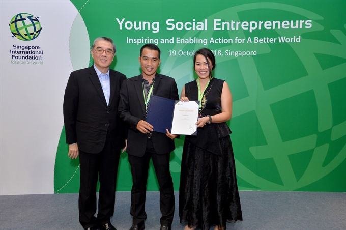 Vietnamese team listed among top young social enterprises in Singapore