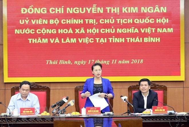 NA Chairwoman asks Thái Bình to improve business climate