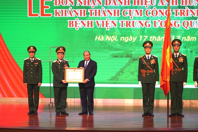108 Military Central Hospital receives honour from PM