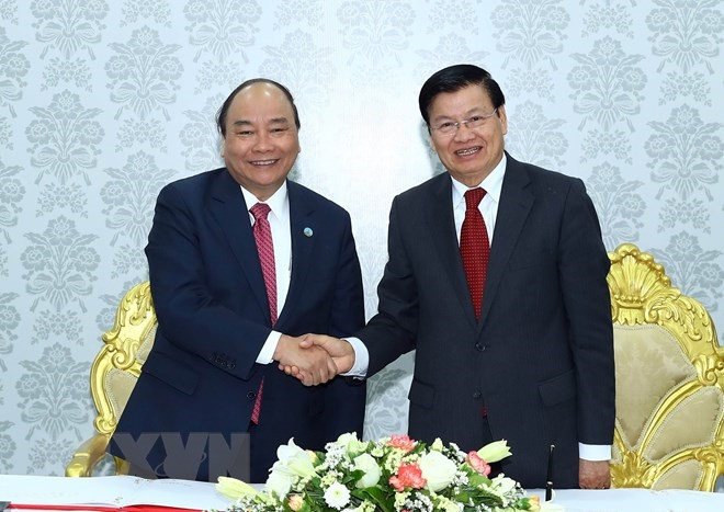 Vietnamese Lao PMs co-chair Inter-Governmental committee meeting