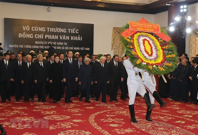 State funeral of former PM Khải today