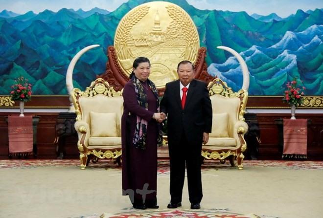 Lao leaders host Vietnamese National Assembly delegation