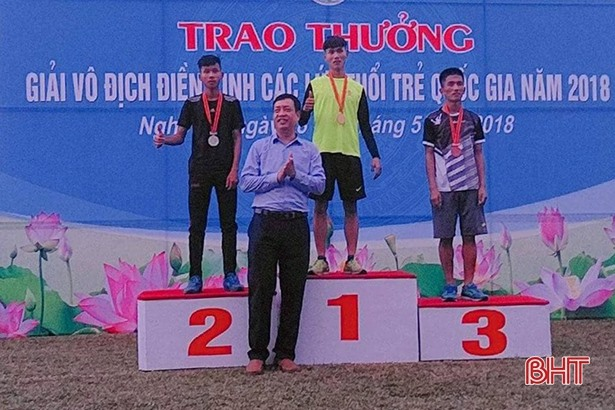 Hà Tĩnh wins 2 medals at National Junior Athletics Champs