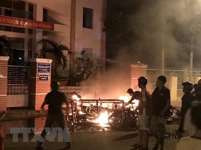 Eight prosecuted after disturbance in Bình Thuận
