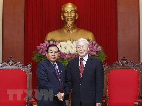 Party leader receives vice chairman of Lao parliament