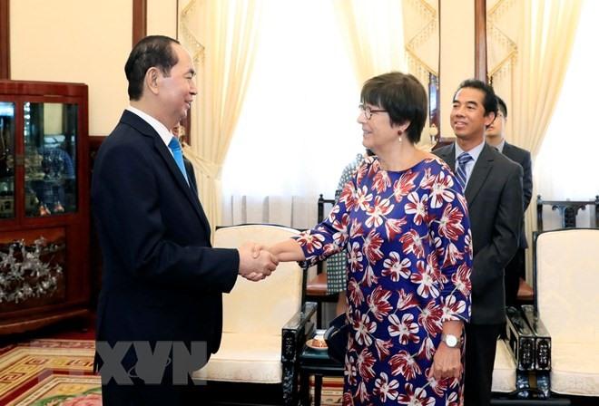 President bids farewell to Belgium ambassador