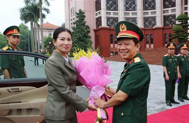 Vietnamese Cambodian armies women enhance co-operation