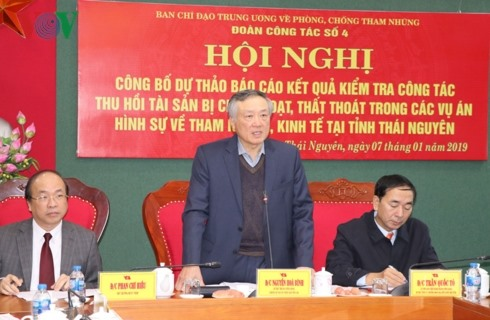 Thái Nguyên records progress in asset recovery from corruption