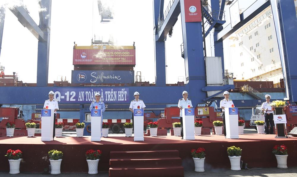 Saigon Newport Company welcomes 5 millionth TEU