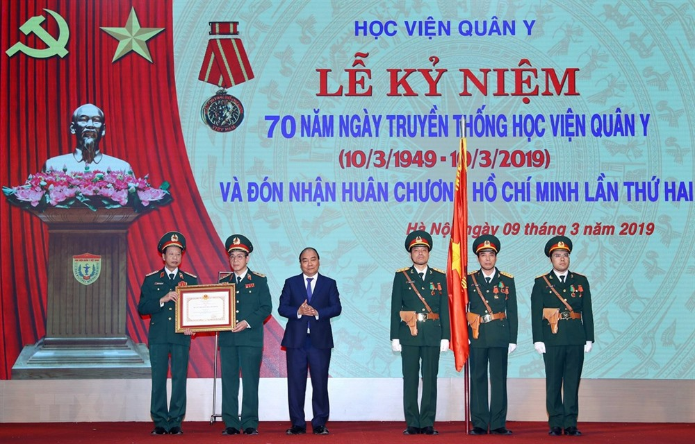 Military medical university honoured for service to soldiers people