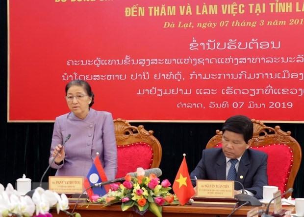 Lao NA Chairwoman visits Lâm Đồng Province