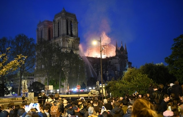 Paris is disfigured: Tears and shock as Notre-Dame burns