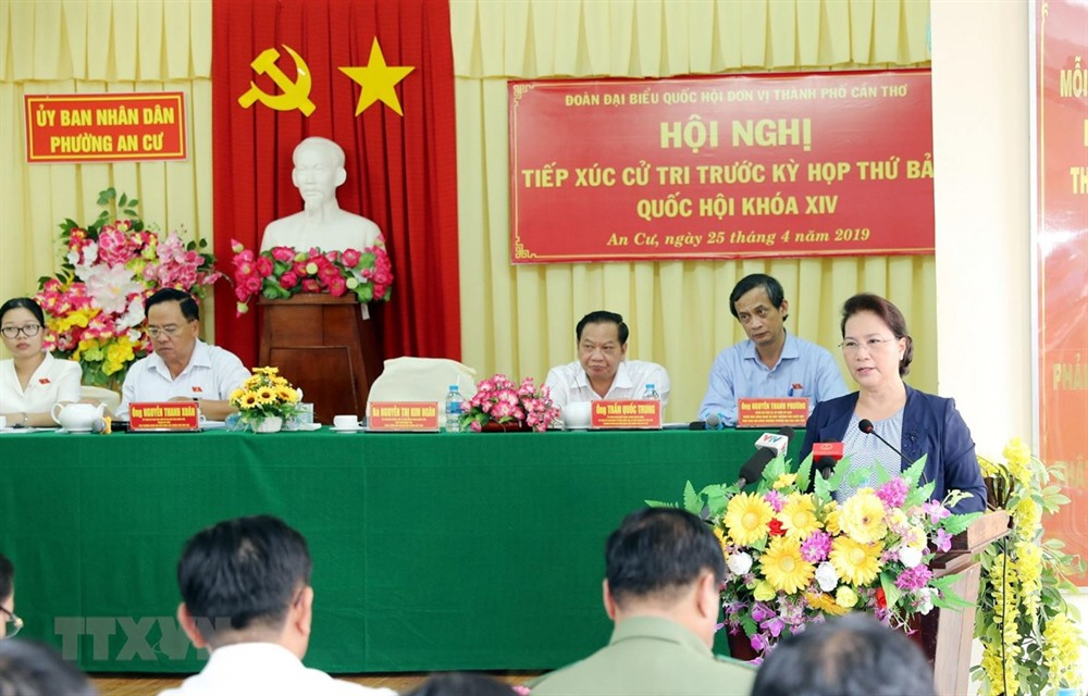 NA Chairwoman meets voters in Cần Thơ City