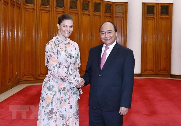 PM welcomes Swedish Crown Princess