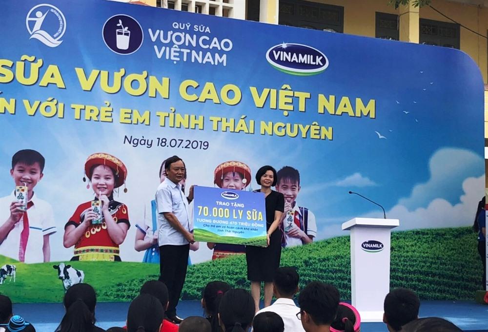 Vinamilk donates milk to disadvantaged children in Thái Nguyên