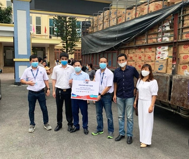 Unilever distributes essential hygiene products to the frontlines
