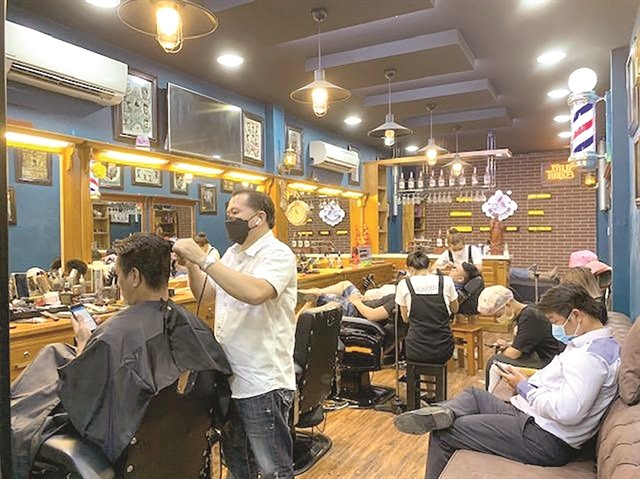 Hair salons reopen offer online bookings