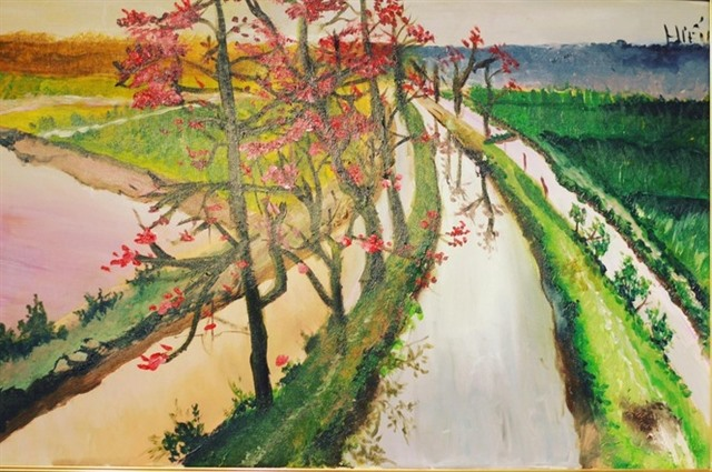 Exhibition features paintings by people with autism
