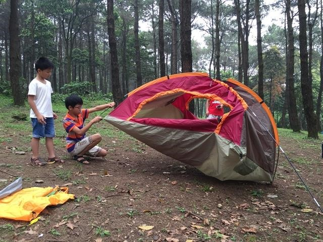 Camping in nature far away from COVID-19