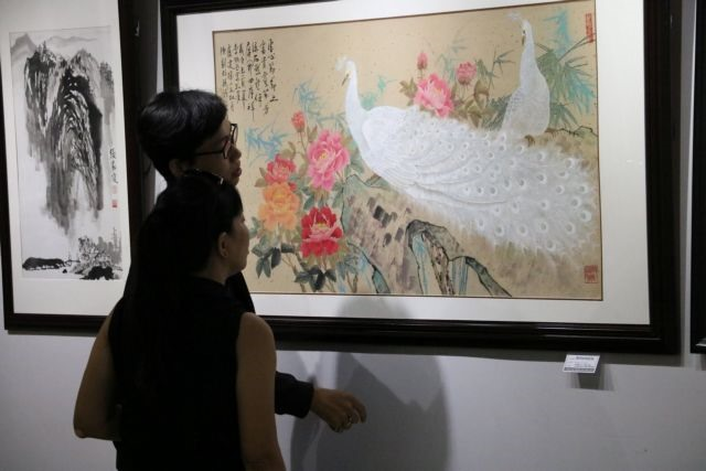 Ink wash painting exhibition celebrates National Day
