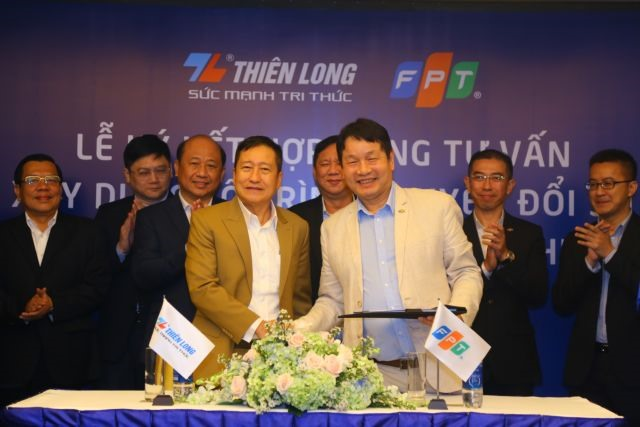 FPT and Thiên Long sign digital transformation consulting contract