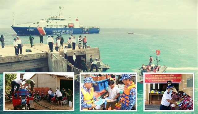 VN coast guards support poor fishermen after social distancing