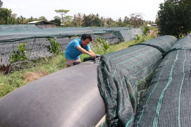 Bến Tre households store rainwater during dry season