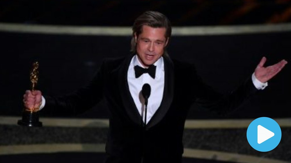 Brad Pitt back on top with Oscar win