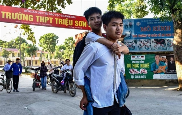 Student gives piggyback to friend for over 10 years
