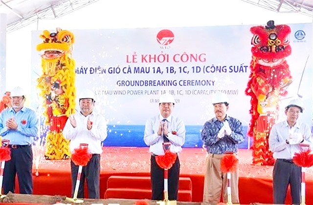 Construction of wind power project begins in Cà Mau