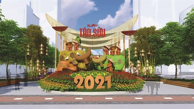HCM City unveils proposed design for Tết Flower Street