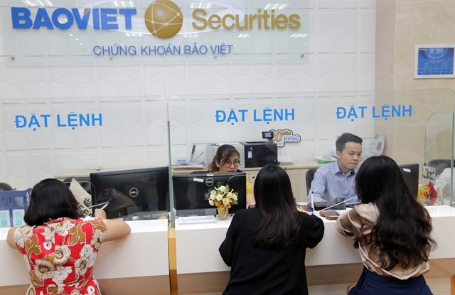 Shares bounce back on strong growth of securities group