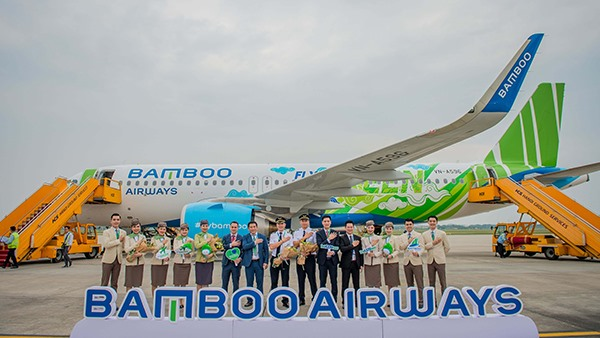 Bamboo Airways welcomes first Airbus A320neo aircraft in Fly Green livery