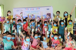 CapitaLand charity arm provides 64000 glasses of milk to school children