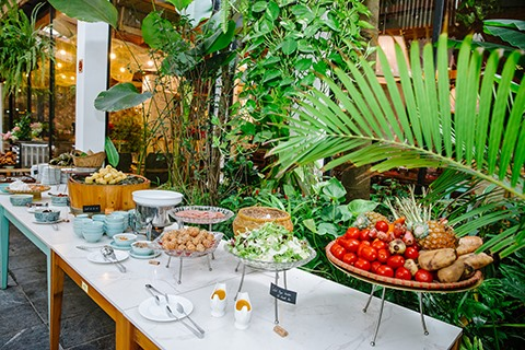 Diners say that dishes at Ngon Garden Chillouts buffet are enjoyable