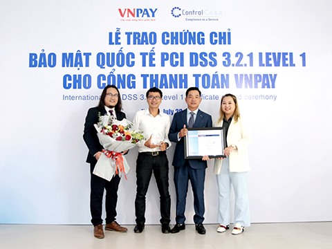 VNPAY gets certified at highest level of international security standards