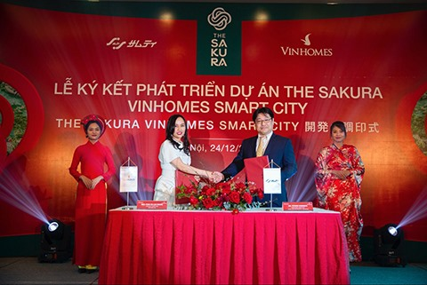 Vinhomes to cooperate with Samty corporation in development of the Sakura project