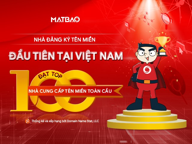 Mat Bao Corp breaks into TOP 100 global domain name registrars, the first in Việt Nam