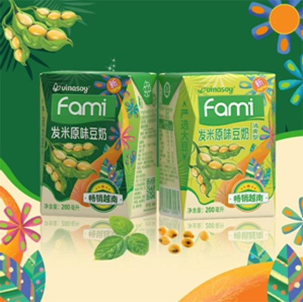 FAMI SOYMILK OF VINASOY HAS SUCCESSFULLY CONQUERED THE CHINESE AND JAPANESE MARKET