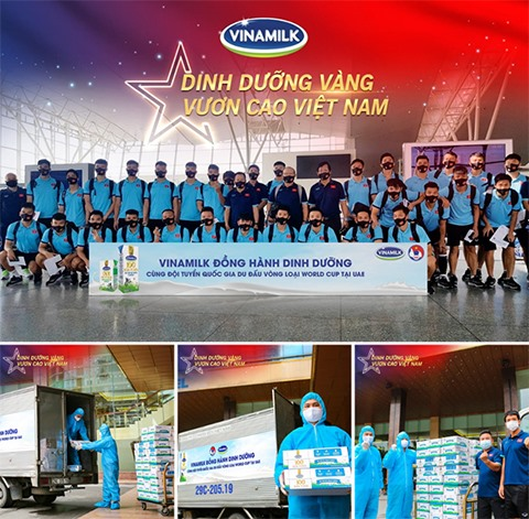 Vinamilk products - the secret of golden nutrition for the Vietnamese football team