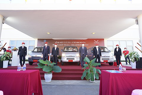 TCMV and SGMW launched three models of light trucks and small vans under the Wuling brand in the Vietnamese market