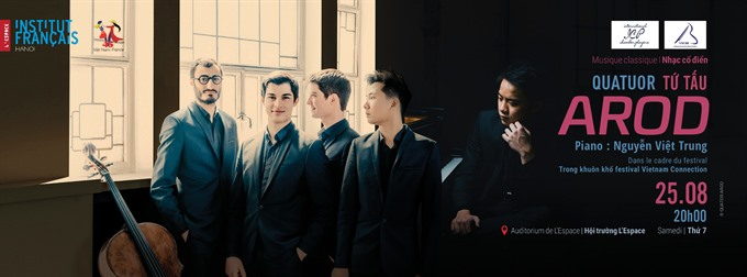 French quartet Arod to perform in VN