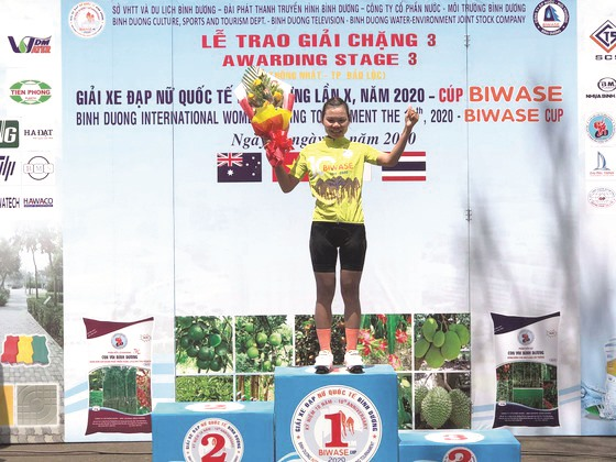 Quỳnh wins stage 3 tops ranking at intl tour