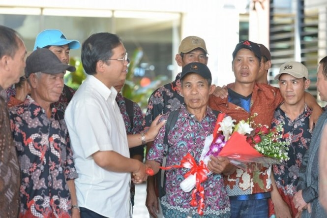 228 fishermen arrive home from Indonesia