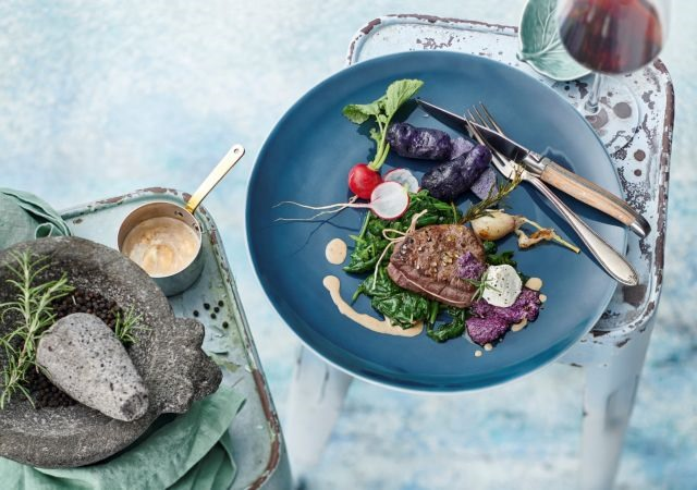 Beef Fillet with Red Cabbage Pesto​​​​​​​