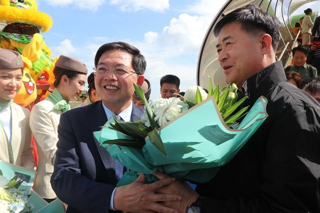 First international flight lands at Phú Cát airport
