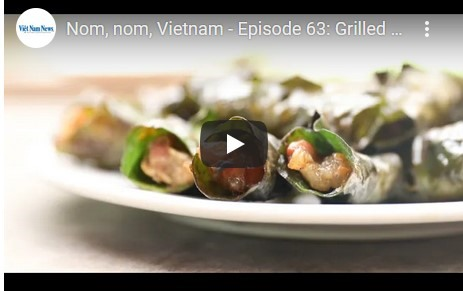 Nom nom Việt Nam - Episode 63: Grilled pork wrapped in pomelo leaves