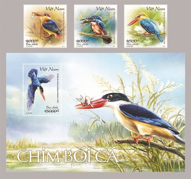 New postage stamps promote conservation of kingfishers