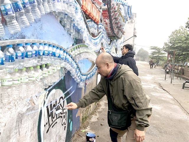 Artworks decorate neglected riverbank site