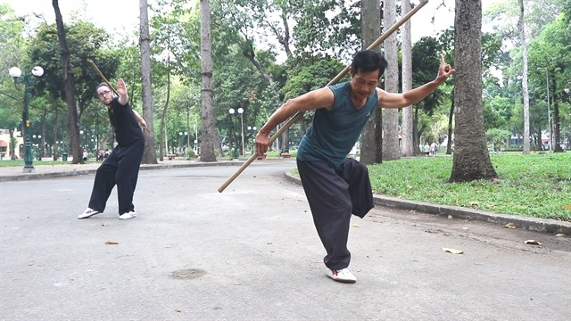 One-legged professional martial artist inspires students